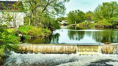 River dam at Consecon (BTaylor Photos) Tags: river dam spring landscape pond ontario
