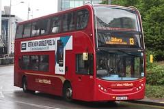 National Express West Midlands Alexander Dennis Enviro400 4752 (BV57 XJU) (West Bromwich) 'Miriam' (john-s-91) Tags: nationalexpresswestmidlands alexanderdennisenviro400 4752 bv57xju birmingham route13 googlepixel3a