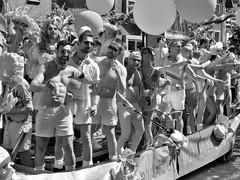 gaypride utrecht 2019 (gerben more) Tags: gay gaypride people shirtless homo boat canal blackwhite monochrome utrecht party festival