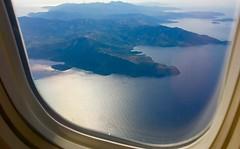 landing at Athens - Greek Coast, from Air Canada Rouge B767-300 (jeffglobalwanderer) Tags: coastline greece europeantravel europe athens landingatathens aircanadarouge windowseat b767300 viewfromaircraft aerialview aerialphoto