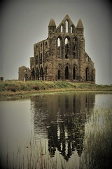 Whitby Abbey  and the Moon Pond (Martellotower) Tags: whitby abbey north yorks moon pond
