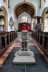 St George Colegate Church, Norwich (peterhagger677) Tags: 2019 may2019 norwich stgeorgecolegatechurch church font nave