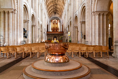 Font and Nave Norwich Cathedral (peterhagger677) Tags: 2019 may2019 norwich norwichcathedral church nave font