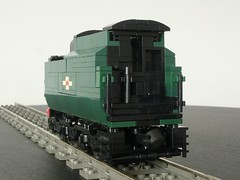 LEGO Bulleid Merchant Navy Class (technoandrew) Tags: lego train railway steam engine loco locomotive 7wide moc model green british rolling stock bulleid pacific merchant navy class 35005 canadian