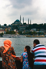 Ferry on the Golden Horn, Istanbul (sdhaddow) Tags: istanbul turkey people ferry water mosque minaret hijab muslim