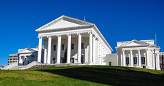 Virginia State Capitol, Richmond, Virginia (lhboudreau) Tags: richmond richmondvirginia capital virginia statecapitol virginiastatecapitol capitalsquare thomasjefferson renovated capitol building architecture hill lawn sky outdoor outdoors