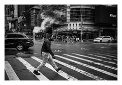 FILM - Music (fishyfish_arcade) Tags: 35mm analogphotography bw blackwhite blackandwhite canonsureshotz135 filmphotography filmisnotdead hp5 istillshootfilm monochrome newyork analogcamera compact film ilford mono streetphotography crosswalk
