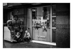 FILM - Hulk smash! (fishyfish_arcade) Tags: 35mm analogphotography bw blackwhite blackandwhite canonsureshotz135 filmphotography filmisnotdead hp5 istillshootfilm monochrome newyork analogcamera compact film ilford mono streetphotography hulk marvel