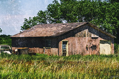 Pink Shed (J K German) Tags: shed oklahoma barn house relic abandoned ruin old pink landscape