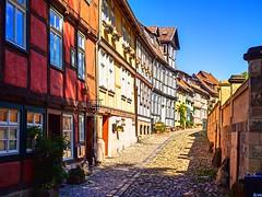 Back to the past (@DinAFoto) Tags: sachsenanhalt outside street sky city summer architecture quedlinburg