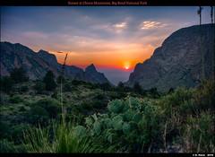 Sunset at Chisos Mountains, Big Bend National Park (episa) Tags: may2019 chisosmountain bigbendnationalpark fujifilmgfx50r sunset thewindowview fujifilmgf45mmf28rwr