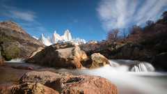 to the river (DeCo2912) Tags: river patagonia cerro fitz roy long time exposure fitzroy saint exupery poincenot mermoz guillaumet madsen