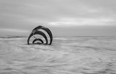Mary's Shell (northcountrygirl) Tags: marysshell cleveleys thorntoncleveleys fyldecoast monochrome seaside sculpture 6stopnd haidand canon6d canon1740