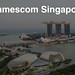 Gamescom asia in in Singapur (Singapore) Aerial: Marina Bay Sands and Harbour