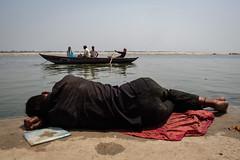 Riverside (SaumalyaGhosh.com) Tags: riverside water ganga ganges color river india benaras varanasi people boat sun fuji fujifilm xt2