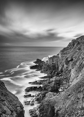 Botallack Mine (Paul K Martin) Tags: le long exposure lee filters 09 soft grad cpl big stopper st just botallack mine crown engine houses cornwall coast west country uk sea seascape rugged cliffs water mono monchrome bw nikon d300s 18mm f11 iso200 103 seconds