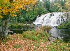 Bond Falls (Kevin Pihlaja) Tags: bondfalls upperpeninsula michigan autumn waterfall fallcolors trees forest foliage leaves nature film mediumformat pentax kodakektar100 pentax645 leefilters