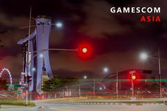 Gamescom asia in in Singapur (Singapore) Marina Sands Bay Hotel: Long Exposure