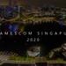 Gamescom asia in in Singapur (Singapore) Marina Bay (Hafenbecken) bei Nacht