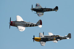 Ultimate Warbirds Team (Airwolfhound) Tags: duxford buchon tf51 mustang spitfire p47 thunderbolt