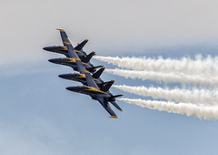 Tight Formation (Kool Cats Photography over 12 Million Views) Tags: blueangels formation aerialphotography flying flyby smoke aircraft airshow airplane fighter oklahoma outdoor photography aviation aviationphotography navy jets eventoklahomacity event sky clouds boeingfa18hornet flyingaerobaticteam flightdemonstrationsquadron hornets performance