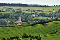 Head On (whosoever2) Tags: uk united kingdom gb great britain nikon d7100 train railway railroad may 2019 welland viaduct harringworth rutland dbcargo class66 66148 4d32 elstow redland mountsorrel