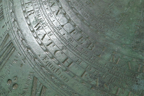 sundial face detail