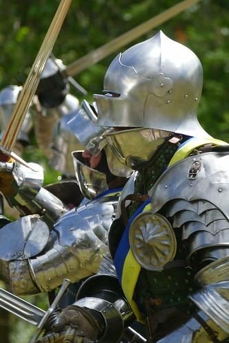 knight in combat