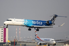 ES-ACG | Nordica | Bombardier CRJ-900LR (CL-600-2D24) | CN 15277 | Built 2012 | VIE/LOWW 05/04/2019 | ex N151MN, N666RD (Mick Planespotter) Tags: aircraft airport 2019 schwechat vienna nik sharpenerpro3 esacg nordica bombardier crj900lr cl6002d24 15277 2012 vieloww 05042019 n151mn n666rd flight