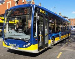 Konectbus 410 is on Castle Meadow while on route 5a to Eaton via City Centre. - YJ57 EGX - 1st April 2019 (Aaron Rhys Knight) Tags: konectbus 410 yj57egx 2019 castlemeadow norwich norfolk goeast optaretempo