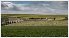 Off the grid (Blaydon52C) Tags: 56096 6c77 colas glaston seaton viaduct harringworth wing rutland welland railway rail railways railfreight trains train transport locomotive locomotives class56 grid