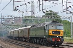 47501 Rugeley TV 02/06/19 (yamdood91) Tags: uk green train tv loco twotone rugeley 2019 staffs ecs class47 wcml trentvalley 47501 lsl