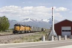 Peacekeeper (Colin Dell) Tags: peacekeeper usa up1625 corinne utah ut sd40 local train railroad up unionpacific transcon transcontinental