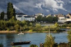 Il fiume scorre lento... (Renato Pizzutti) Tags: francia borgogna fiume barca case città alberi acqua nikond750 renatopizzutti