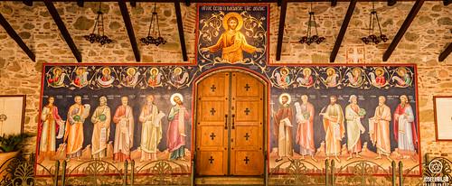Monasterio del Gran Meteoro. Nartex, Frescos Escuela Cretense.
