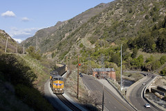 Transcon 150th (Colin Dell) Tags: up unionpacific coal train rr rwy railway ge canyon broad