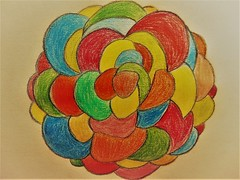 Abstract Flower (Hannelore_B) Tags: abstrakt abstract abstractflower bunt colourful zeichnung drawing