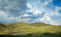 Grassy Hills Near Clear Creek Colorado (Anna Gurule) Tags: grass grassland hills cloudyskies beautiful clearcreek colorado greern