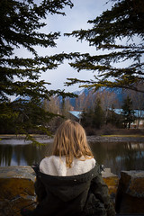 Checking out the view (ellieupson) Tags: landscape view canmore canada alberta trees water mountain