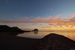 IMGP6283 Sunset looking Le Morne (Claudio e Lucia Images around the world) Tags: sunset reflections sun sky clouds lemorne mountain ocean orange mauritius pentax pentaxk3ii pentaxcamera pentaxart sigma sigma1020 sigmalens sigmaart