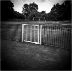 where do the children play....... (bevscwelsh) Tags: playground deserted holga120n