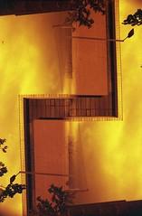 (von8itchfisk) Tags: ishootfilm film filmisnotdead analog analogphotography architecture geometric pattern doubleexposure 35mm redscale vonbitchfisk selfdeveloped tetenal c41 ipswich suffolk eastanglia olympus om10 lomography