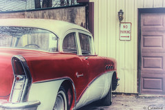No Parking (* Gemini-6 * (on&off)) Tags: buick vintage faded automobile vehicle transportation chrome red patina