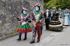 Parade vénitienne Yvoire 2019 (joménager) Tags: nikonpassion nikond3 nikonafs24120f4 carnaval masque costume yvoire hautesavoie flash