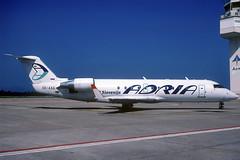 Adria CRJ-200LR S5-AAG GRO 21/09/2003 (jordi757) Tags: airplanes avions nikon f90x kodachrome kodachrome64 gro lege girona costabrava bombardier canadair crj200 adria s5aag