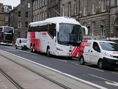City Circle of Hayes Scania K410EB6 Irizar i6s YN18SWX 159, in Globus Tours livery, at York Place, Edinburgh, on 20 May 2019. (Robin Dickson 1) Tags: busesedinburgh citycircle globustours scaniak410eb6 irizari6s yn18swx