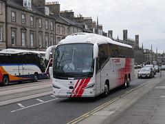 City Circle of Hayes Scania K410EB6 Irizar i6s YN18SVJ 161, in Globus Tours livery, at York Place, Edinburgh, on 20 May 2019. (Robin Dickson 1) Tags: busesedinburgh citycircle globustours scaniak410eb6 irizari6s yn18svj