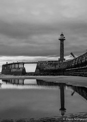Whitby Reflection (daveseargeant) Tags: blackwhite monochrome black white street seaside sea coast beach pier whitby north yorkshire nikon df 50mm 18g coastal landscape seascape