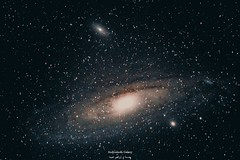 #بعدستي صورة لمجرة المرأة المسلسلة  Andromeda Galaxy - M31  في هذه الأيام بدأت تظهر مجموعة من الأجرام السماوية وهذه أحدها...  وهي أقرب مجرة لمجرتنا، وتبعد عنا ما يقارب ال ٢.٥ مليون سنة ضوئية، وتحتوي على تريليون نجمة، ويبلغ قطرها ٢٢٠ ألف سنة ضوئية!  تقع مج (ebrahemhabibeh) Tags: andromeda galaxy milkyway astrophotography مجرةأندروميدا مجرةالمرأةالمسلسلة