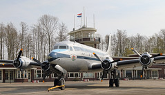 The Flying Dutchman (Treflyn) Tags: flying dutchman douglas c54a c54 skymaster painted klm dc4 phtar rotterdam stands outside replica 1928 amsterdam schiphol airport terminal building lelystad aviodrome netherlands